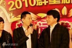 东方卫视春晚录制成龙周立波秀功夫小品(组图)