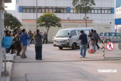 组图:陈志云被ICAC带回电视城传媒包围现场