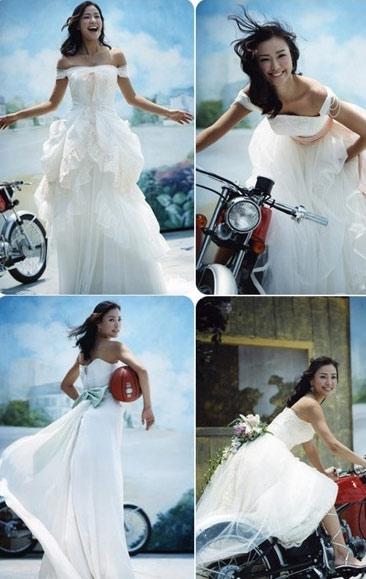 图文:韩星孙泰英婚纱写真曝光--疯狂新娘