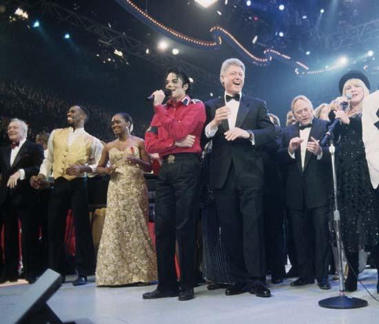 迈克尔-杰克逊慈善瞬间:克林顿就职庆典