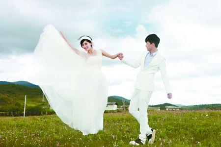 谢娜张杰婚纱照