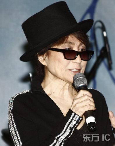 组图:小野洋子推广音乐事业揭幕列侬教学巴士