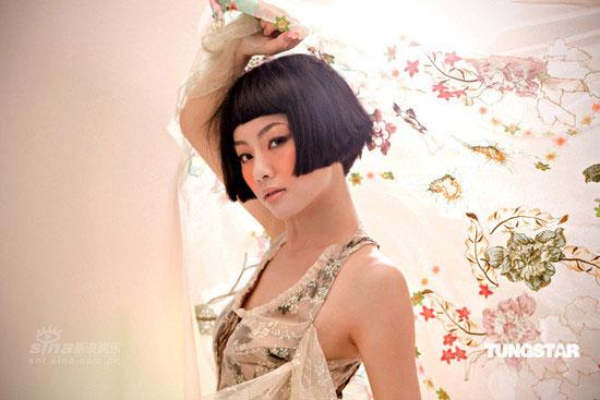 图文:邓丽欣新专辑造型--中国娃娃