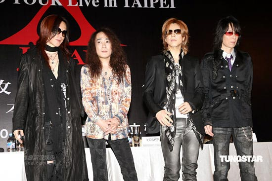 组图:XJAPAN台湾造势演唱会可能穿神秘礼服