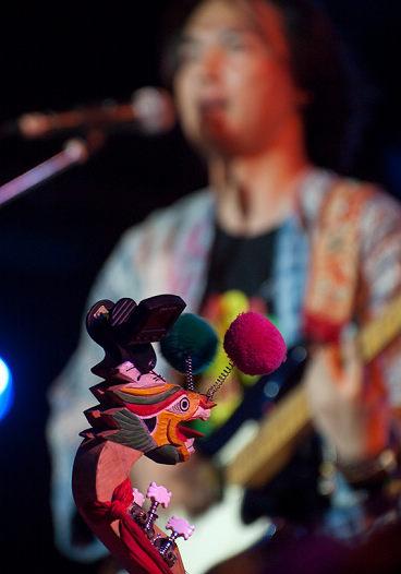 图文:长沙橘州音乐节次日--山人的月琴