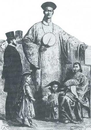 1867年巴黎世博会中国馆展品中有巨人和侏儒。