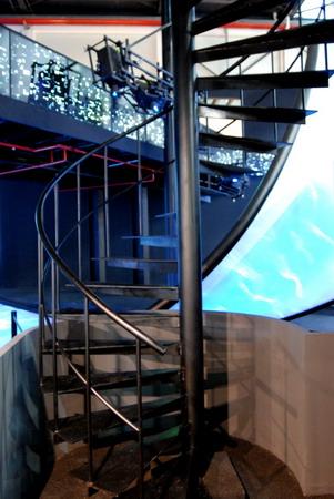 巴黎市和巴黎大区案例馆内的一道楼梯