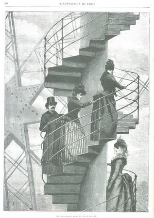 巴黎上流社会的贵宾们成为捷足先登铁塔的人
