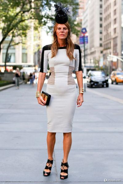 时尚街拍障眼法线条裙装雕塑曲线有捷径