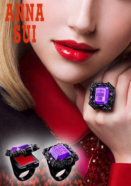 【有意思】安娜苏推出2013 十五周年华丽魔彩唇戒新品