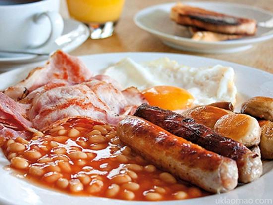 【美食】食指大动 全套英式早餐都吃啥?