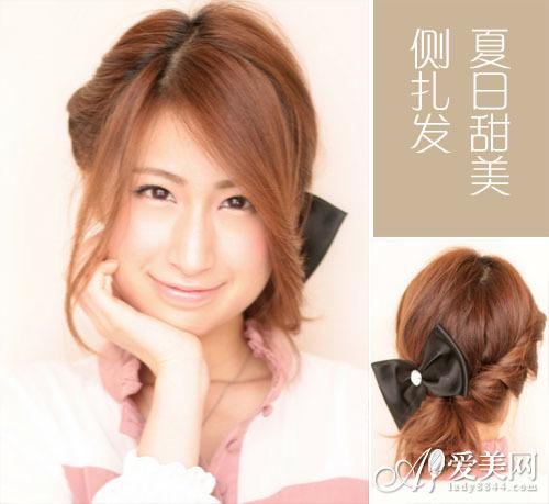 不优雅的美打造不对对称侧扎发|短发|造型|迷人视频剪女神小树长发网图片
