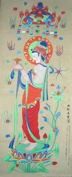 东林佛艺绘制大势至菩萨像