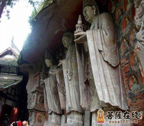 大足石刻中的群佛像-大足石刻国之瑰宝欣赏图片