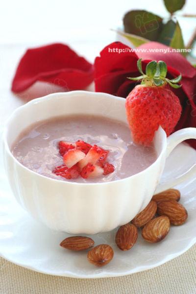 草莓大杏仁水果茶