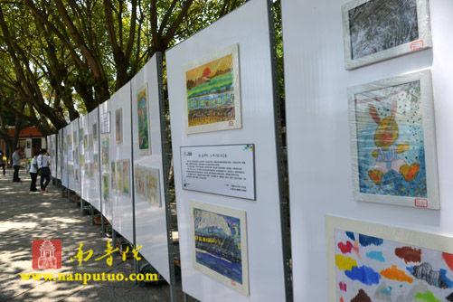 自闭症儿童绘画作品巡回展在南普陀寺启动