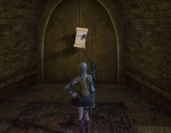 发现了钉在门上的信件