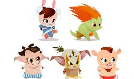 """以各种小动物为原型的""""街霸""""角色非常可爱,无论猪猪造型还是兔兔"""