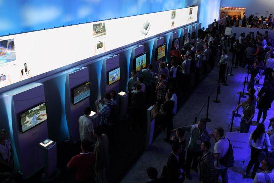 一整排都是WiiU的试玩(这排是VIP保留区)