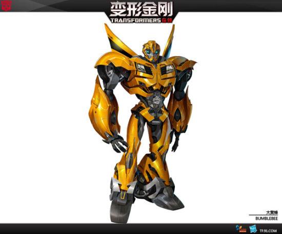 图3:《变形金刚在线》大黄蜂游戏设定图