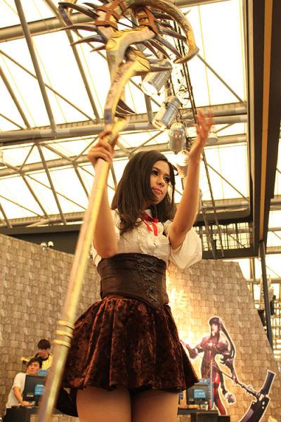 绝美的杖娘,是现场人气最高的Coser之一