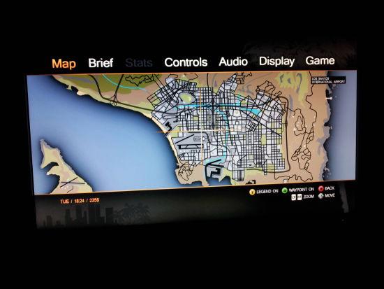 《侠盗猎车手5(GTA5)》地图画面