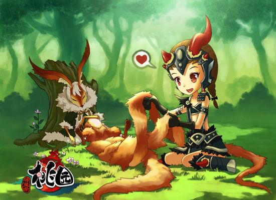 olivia作品:敢情九尾狐的尾巴还有织辫子的功能?