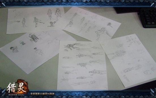 精致手绘图-走进3D魔幻网游 猎灵 研发中心