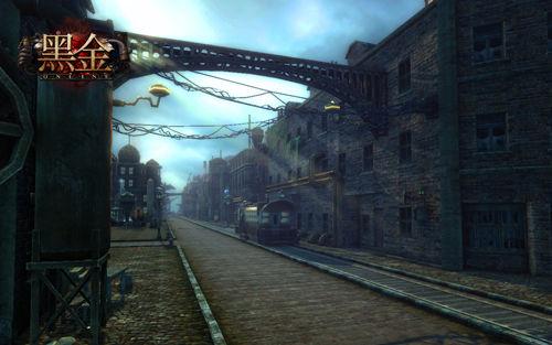 《黑金》游戏主城街道截图