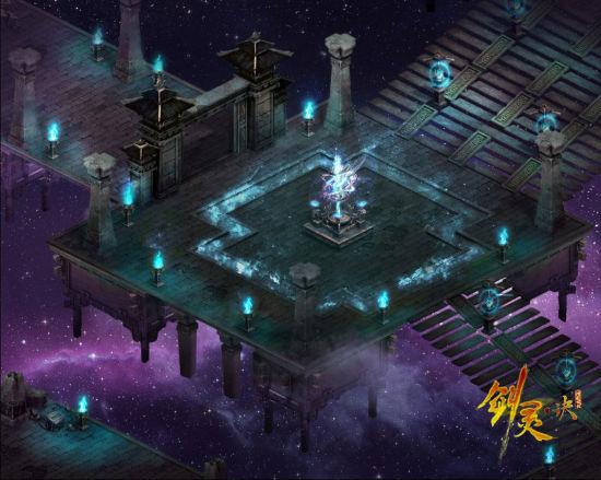 在虚幻缥缈的星空里,有一座每逢晚间就会出现的移动城。它不断地吸取着星空的能量,放射出绚丽的光辉,令无数好奇的勇者前来探险挑战,这就是完美世界首款次世代革新2D穿越网游《剑灵诀》的天空黑夜副本。游戏首创分时动态副本玩法,白天6:00-18:00可以进入白昼副本,晚上18:00-6:00可以进入黑夜副本,除了迎接不同怪物的挑战以外,根据现实白日与黑夜构筑的景象也生动迷人。以下黑夜副本的截图希望你也会喜欢。 天空之城黑夜副本全貌
