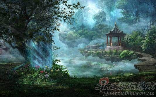 《轩辕剑》网游新作壶中世界的原画设定图