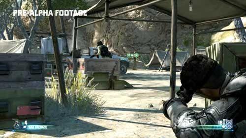 E3展上,山姆射杀了前方的5名敌人;而这一次,没有这个必要