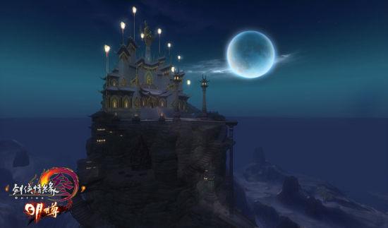全新引擎效果―明教夜景