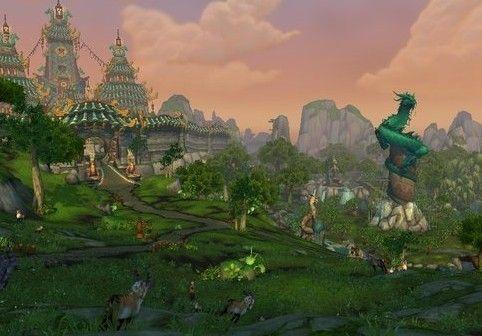 魔兽世界熊猫人之谜翡翠林场景图片