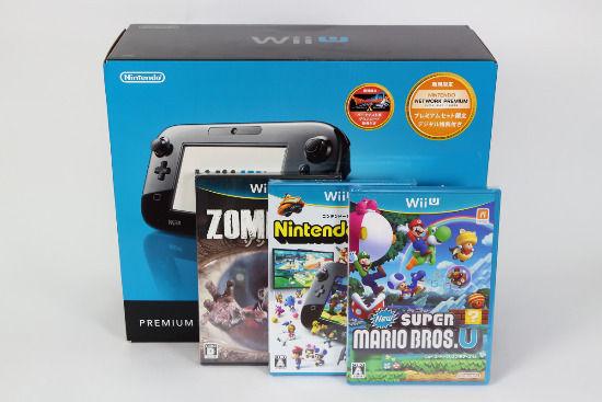 同时购入的3款游戏《新超级马里奥兄弟U》、《任天堂乐园》、《僵尸U》