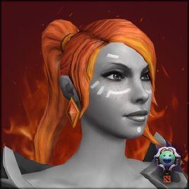 火女新发型的面纹