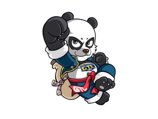 熊猫酒仙矢量图