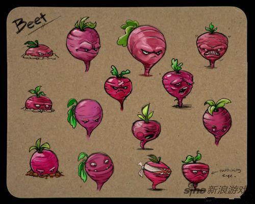 《植物大战僵尸2》设定图以及草图