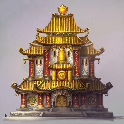 中国风建筑物概念设计原画 (5)