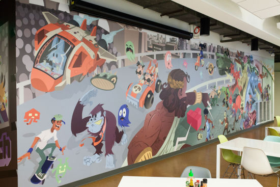 Twitch的餐厅壁画
