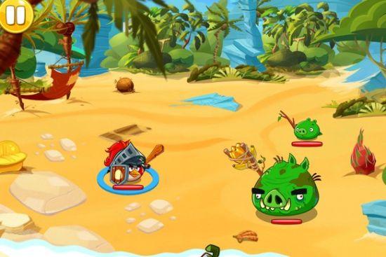 愤怒的小鸟英雄传南海滩-4关卡攻略。