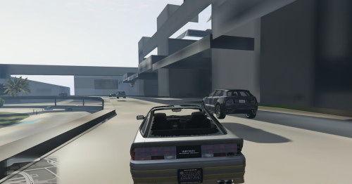 夜回到解放前 GTA5 现贴图错误似PS2图片