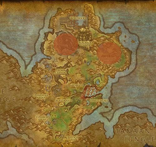 魔兽6.0新声望嘲颅兽人杀怪地图