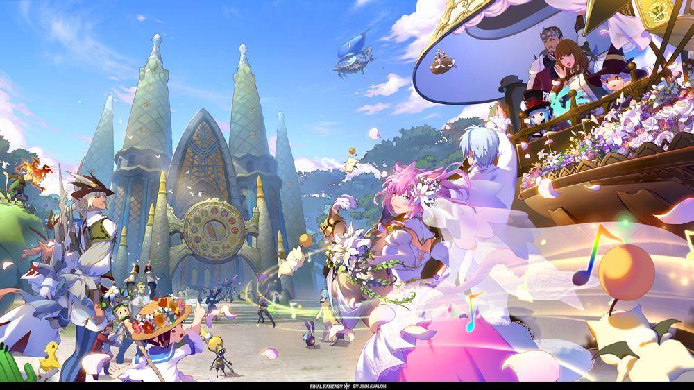 日本最终幻想14粉丝同人画作品入围鉴赏