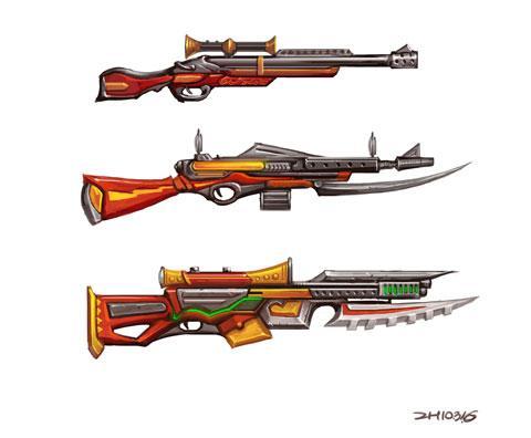 图. 火枪手武器