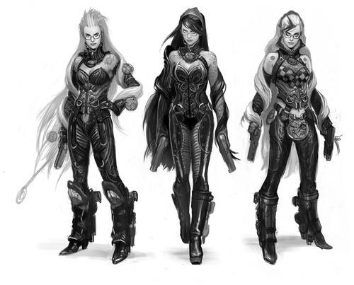 《猎天使魔女》6种造型设计