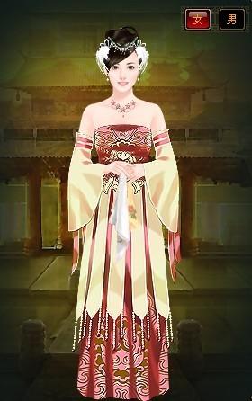 古代皇宫忧伤美女手绘