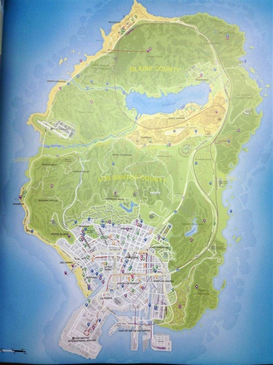 GTA5 官方地图曝光 游戏时间100小时图片