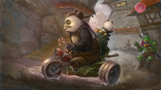 熊猫人父子漫画:《漫画进货去啊!》炫老板舞图片