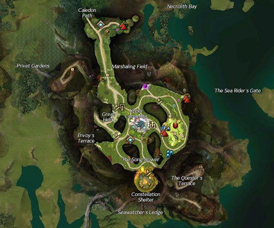 激战2圣林之地三层地图